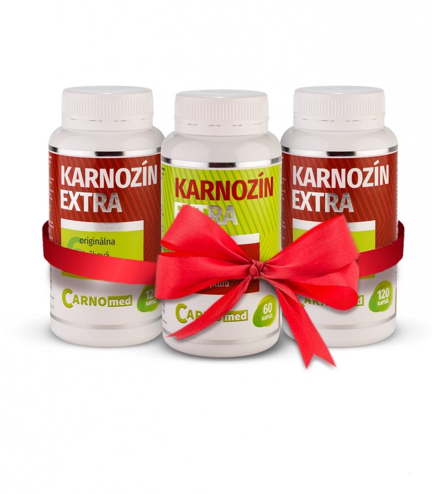 2x Karnozín EXTRA 120 + Karnozín EXTRA 60 - Moderná účinná látka 21. storočia pre celú rodinu