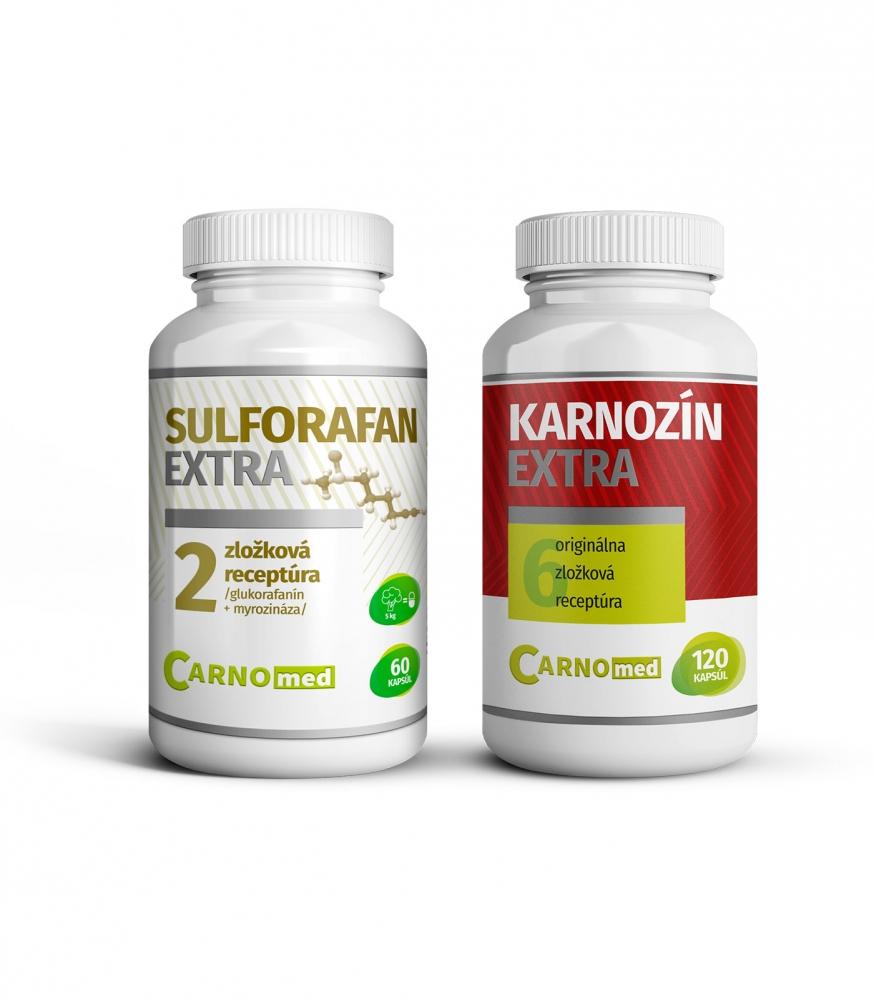 Sulforfan EXTRA + Karnozín EXTRA 120 - Spojenie dvoch výnimočných produktov.