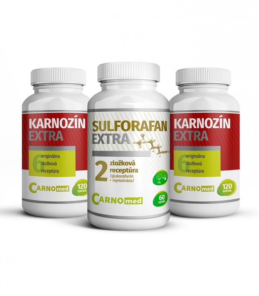 Sulforafan EXTRA + 2 balenia Karnozín EXTRA 120 - Spojenie dvoch výnimočných produktov