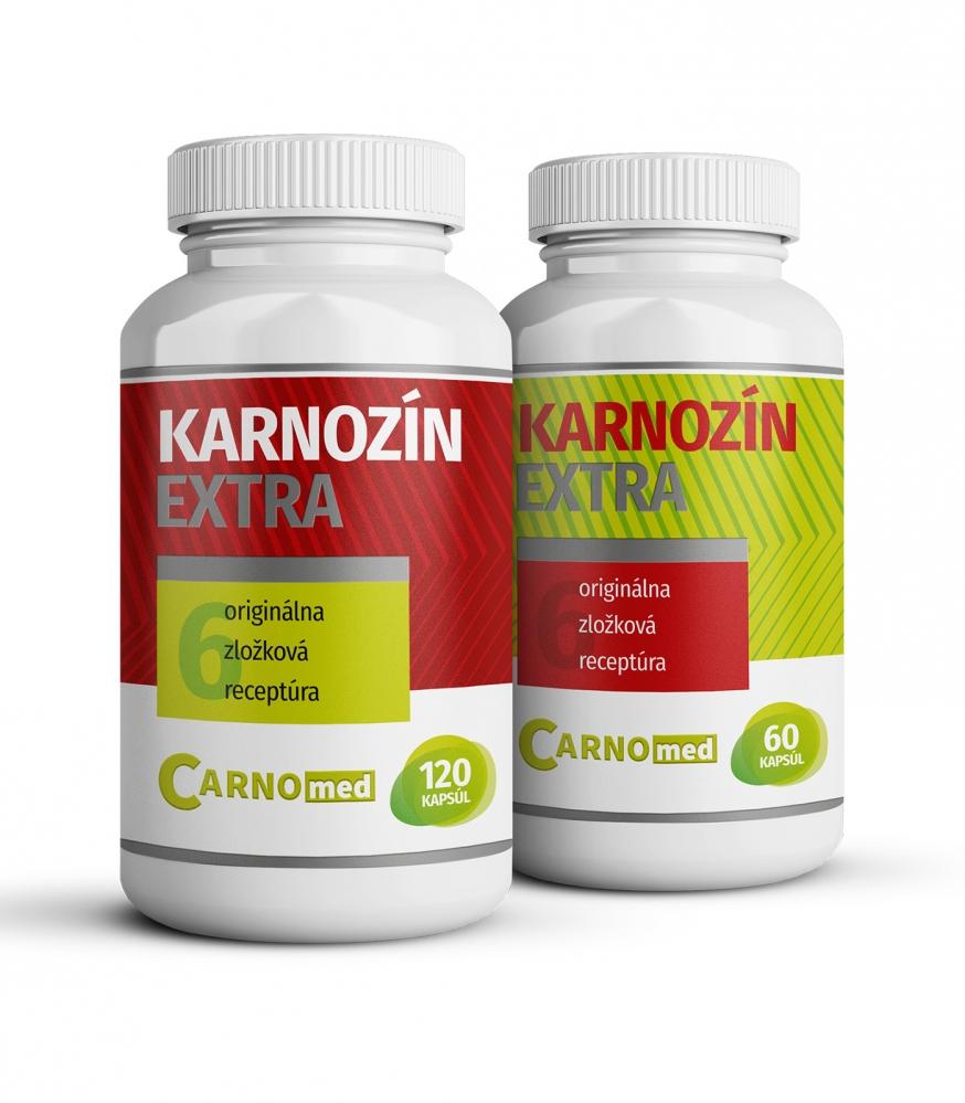 1x Karnozín EXTRA 120 + 1x Karnozín EXTRA 60 - Multifunkčná ochrana buniek
